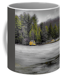 Coffee Mug featuring the photograph The Lighthouse On Frozen Pond by David Patterson