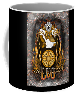 Coffee Mug featuring the drawing The Lion - Leo Spirit by Raphael Lopez