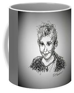 Coffee Mug featuring the drawing The Little Rapper by Denise Fulmer