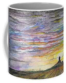 Coffee Mug featuring the digital art The Living Sky by Darren Cannell