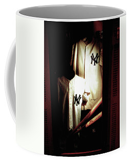 The Locker  Mickey Mantle's And Joe Dimaggio's Locker Coffee Mug
