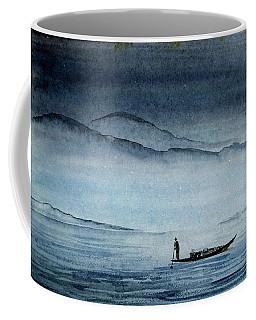 The Lonely Boat Man Coffee Mug
