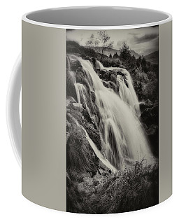 Coffee Mug featuring the photograph The Loup Of Fintry In Black And White by Jeremy Lavender Photography