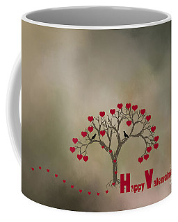 Coffee Mug featuring the photograph The Love Tree by Darren Fisher