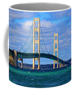 Coffee Mug featuring the photograph The Mackinac Bridge by Michael Rucker