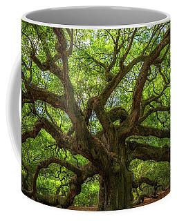 The Magical Angel Oak Tree Panorama  Coffee Mug by Michael Ver Sprill