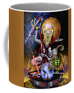 Coffee Mug featuring the digital art The Magician 78 Tarot Astral Card by Stanley Morrison
