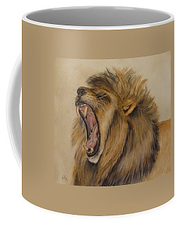 Coffee Mug featuring the painting The Majestic Roar by Kelly Mills