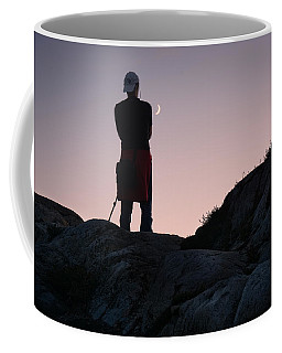 The Man And The Moon Coffee Mug by Sabine Edrissi