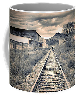 The Man On The Tracks Coffee Mug by Tara Turner