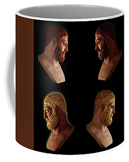 Coffee Mug featuring the mixed media The Many Faces Of Hercules 2 by Shawn Dall