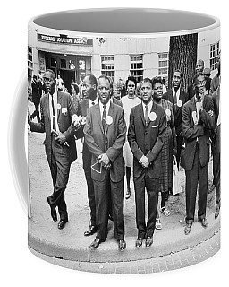 The March On Washington  Federal Aviation Agency Workers Watch The Marchers On Constitution Avenue Coffee Mug