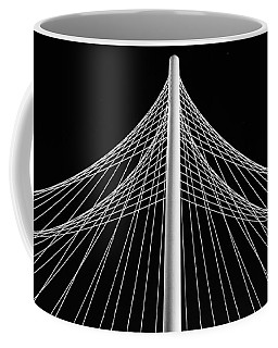Coffee Mug featuring the photograph The Margaret Hunt Hill Bridge In Dallas by Robert Bellomy