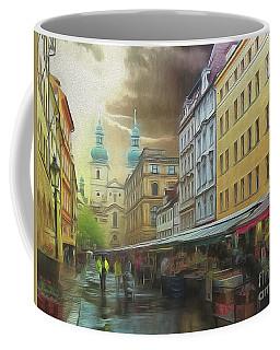 The Market In The Rain Coffee Mug
