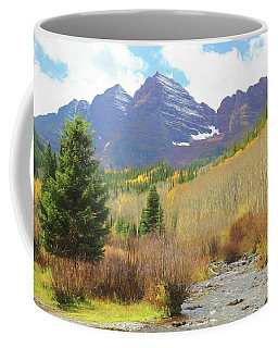 Coffee Mug featuring the photograph The Maroon Bells Reimagined 3 by Eric Glaser