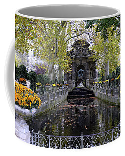 The Medici Fountain At The Jardin Du Luxembourg In Paris France. Coffee Mug by Richard Rosenshein