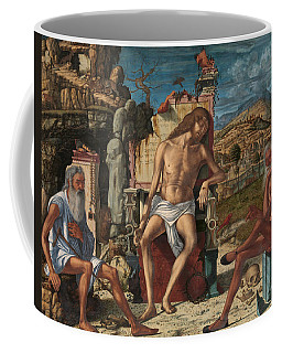 Coffee Mug featuring the painting The Meditation On The Passion by Vittore Carpaccio