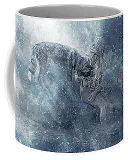The Mermaid And The Husky Coffee Mug