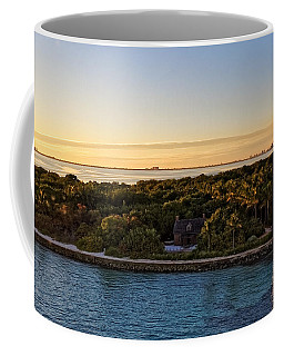 Coffee Mug featuring the photograph The Miami Lighthouse   by Lars Lentz