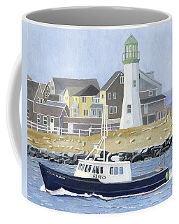 Coffee Mug featuring the painting The Michael Brandon by Dominic White