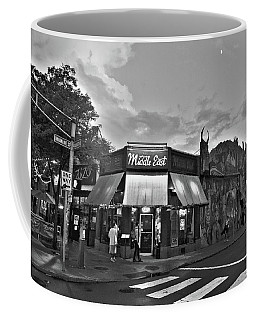 The Middle East In Central Square Cambridge Ma Black And White Coffee Mug