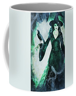 Coffee Mug featuring the digital art The Midnight Garden Witch by Absinthe Art By Michelle LeAnn Scott