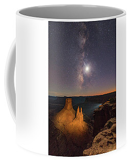 The Milky Way And The Moon From Marlboro Point Coffee Mug