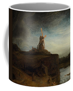 Coffee Mug featuring the painting The Mill by Rembrandt