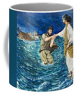 The Miracles Of Jesus Walking On Water  Coffee Mug