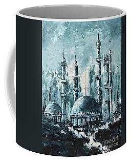 Coffee Mug featuring the painting The Mosque-2 by Nizar MacNojia