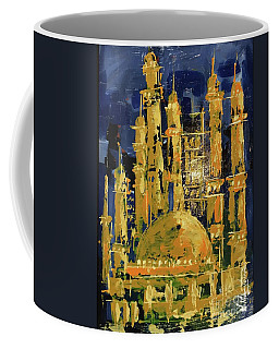 Coffee Mug featuring the painting The Mosque-3 by Nizar MacNojia