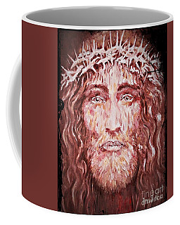 Coffee Mug featuring the painting The Most Loved Jesus Christ by AmaS Art
