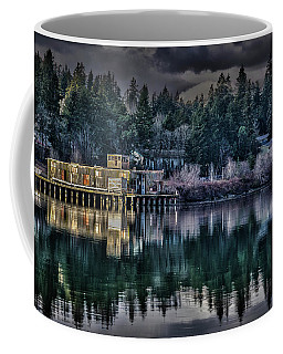 Coffee Mug featuring the photograph The Navy Base P1 by Timothy Latta