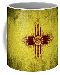 Coffee Mug featuring the digital art The New Mexico Flag by JC Findley