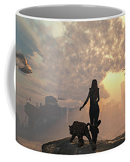 Coffee Mug featuring the digital art The New World by Mary Almond