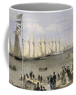 The New York Yacht Club Regatta, 1869 Coffee Mug