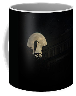 Coffee Mug featuring the photograph The Night Of The Heron by Chris Lord