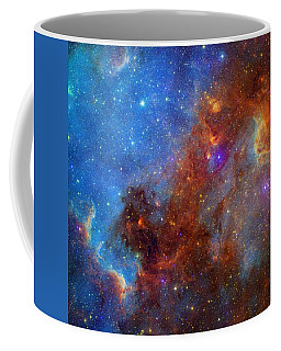 Coffee Mug featuring the photograph The North America Nebula In Different Lights by NASA JPL - Caltech