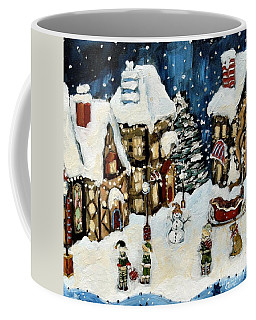 The North Pole Coffee Mug by Carrie Joy Byrnes