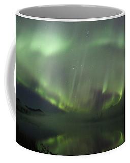 The Northern Lights Over The Denali Highway's Twin Lakes Coffee Mug