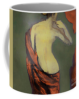 Coffee Mug featuring the painting The Not So Nude by Lisa Kaiser