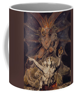 Coffee Mug featuring the painting The Number Of The Beast Is 666 by William Blake