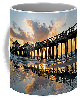 Naples Pier At Sunset Naples Florida Ripples Coffee Mug