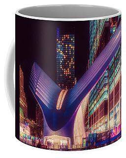 Coffee Mug featuring the photograph The Occulus At Midnight by Chris Lord