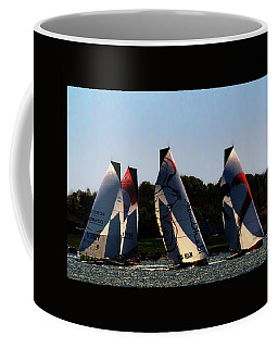 Coffee Mug featuring the photograph The Ocean Race by Tom Prendergast