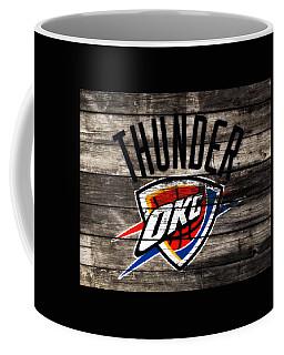 Coffee Mug featuring the mixed media The Oklahoma City Thunder W10           by Brian Reaves
