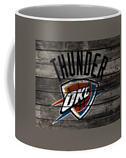Coffee Mug featuring the mixed media The Oklahoma City Thunder W8           by Brian Reaves
