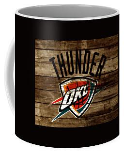 Coffee Mug featuring the mixed media The Oklahoma City Thunder W9           by Brian Reaves