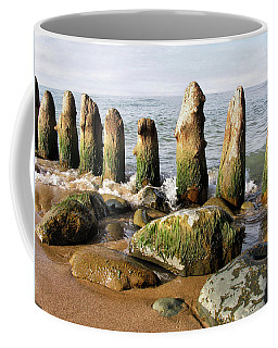 The Old Dock Pilings Coffee Mug by Kathi Mirto