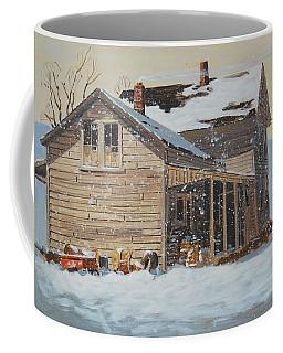 the Old Farm House Coffee Mug by Len Stomski